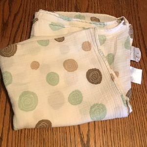 Aden and Anais Target green brown swirl swaddle